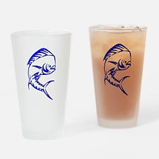 Tribal Mahi Mahi Drinking Glass