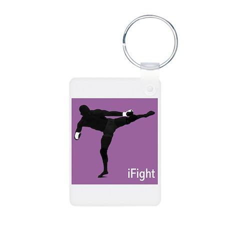 iFight (purple) Aluminum Photo Keychain