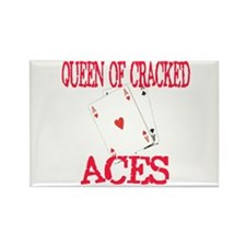 Queen of Cracked Aces Rectangle Magnet