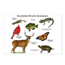 Illinois State Animals Postcards (Package of 8)