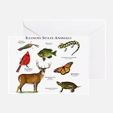 Illinois State Animals Greeting Card
