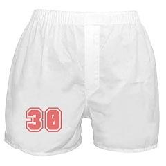Varsity Uniform Number 30 (Pink) Boxer Shorts