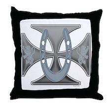 Lucky Iron Cross Throw Pillow