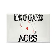 King of Cracked Aces Rectangle Magnet