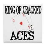 King of Cracked Aces Tile Coaster