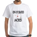 King of Cracked Aces White T-Shirt