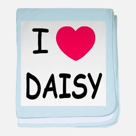I heart DAISY baby blanket