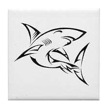 Tribal Shark Tile Coaster