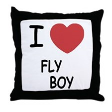 I heart FLYBOY Throw Pillow