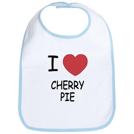 I heart cherry pie Bib