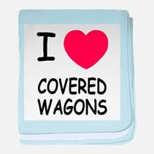 I heart covered wagons baby blanket