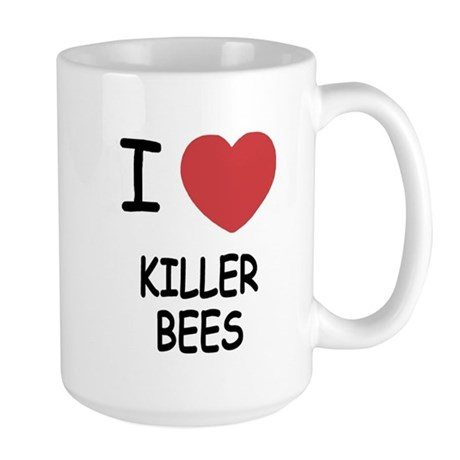 I heart killer bees Large Mug