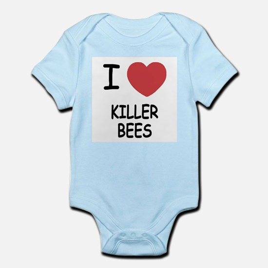 I heart killer bees Infant Bodysuit