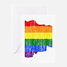 Andorra Rainbow Pride Flag And Map Greeting Card