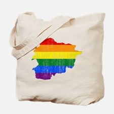 Andorra Rainbow Pride Flag And Map Tote Bag