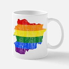 Andorra Rainbow Pride Flag And Map Mug