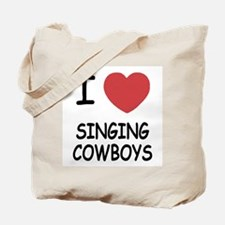 I heart singing cowboys Tote Bag