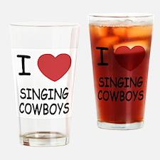 I heart singing cowboys Drinking Glass