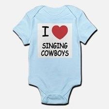 I heart singing cowboys Infant Bodysuit