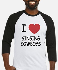 I heart singing cowboys Baseball Jersey
