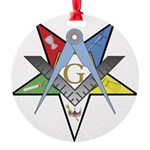 OES Past Patron Round Ornament