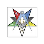 OES Past Patron Square Sticker 3