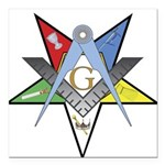 OES Past Patron Square Car Magnet 3