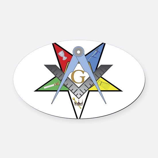 OES Past Patron Oval Car Magnet