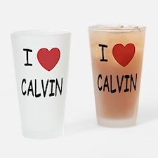 I heart CALVIN Drinking Glass