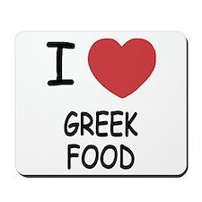 I heart greek food Mousepad