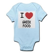 I heart greek food Infant Bodysuit