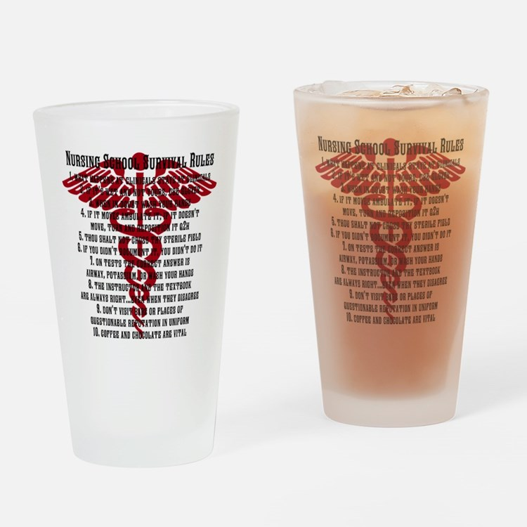 Cute School nursing Drinking Glass