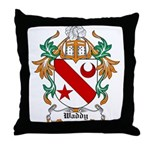 Waddy Coat of Arms Throw Pillow