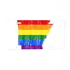 Aransas Rainbow Pride Flag And Map Aluminum Licens