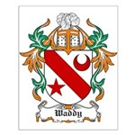 Waddy Coat of Arms Small Poster
