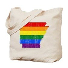 Aransas Rainbow Pride Flag And Map Tote Bag