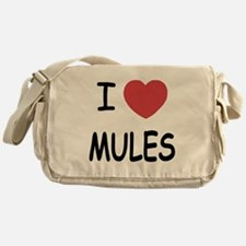 I heart mules Messenger Bag