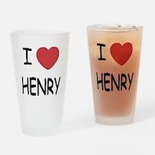 I heart HENRY Drinking Glass