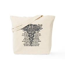 Funny Nursing school survival rules Tote Bag