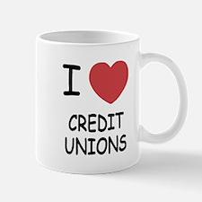 I heart credit unions Mug
