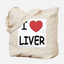 I heart liver Tote Bag