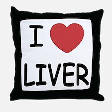 I heart liver Throw Pillow