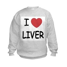 I heart liver Sweatshirt