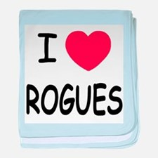 I heart rogues baby blanket