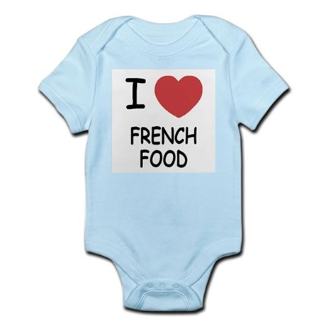 I heart french food Infant Bodysuit