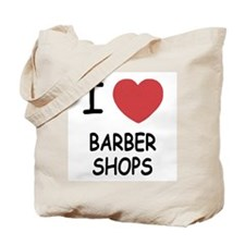 I heart barbershops Tote Bag