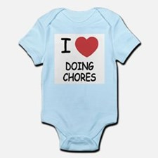 I heart doing chores Infant Bodysuit