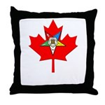OES Canadian Maple Leaf Throw Pillow