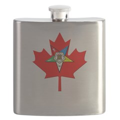 OES Canadian Maple Leaf Flask