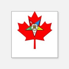 "OES Canadian Maple Leaf Square Sticker 3"" x 3"""